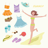 Summer  clothes Stock Photos