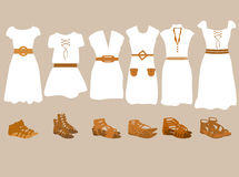Summer clothes for women. Vector illustration of summer clothes for women Stock Photography