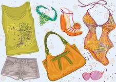 Summer clothing Stock Photos