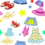 Summer clothing pattern Royalty Free Stock Image