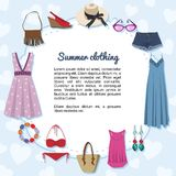 Summer clothing Stock Images