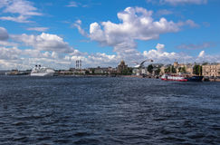 Summer clouds above Neva river in Saint Petersburg Stock Photo