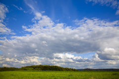 Summer clouds. Beautiful white summer clouds as interesting  sky background Royalty Free Stock Photography