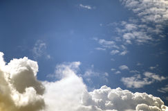 Summer clouds in blue sky Stock Photography