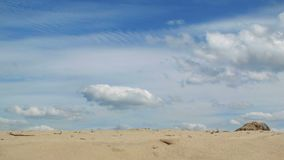 Summer clouds stock footage