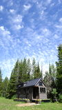 Summer Clouds Tiny House Royalty Free Stock Photography