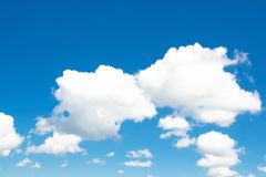 Summer cloudscape. With intense blue sky Stock Photos