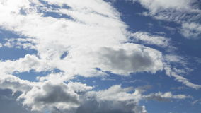 Summer cloudscape timelapse footage Royalty Free Stock Image