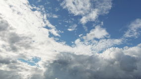 Summer cloudscape timelapse footage Royalty Free Stock Photography