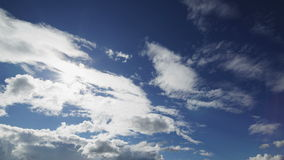 Summer cloudscape timelapse footage Royalty Free Stock Photos