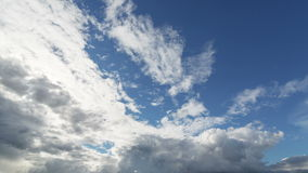 Summer cloudscape timelapse footage Royalty Free Stock Images