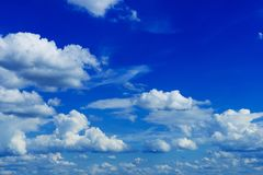 Summer Cloudy Blue Sky Royalty Free Stock Photos