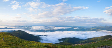 Summer cloudy mountain landscape Royalty Free Stock Photo