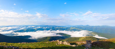 Summer cloudy mountain landscape Royalty Free Stock Image