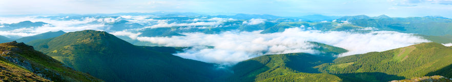 Summer cloudy mountain panorama view Royalty Free Stock Images