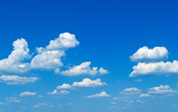Summer cloudy sky. In a sunny day Royalty Free Stock Photo