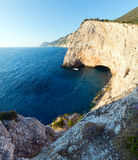 Summer coast landscape (Lefkada, Greece). Royalty Free Stock Photo