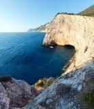 Summer coast landscape (Lefkada, Greece). Beautiful summer coast landscape on Ionian Sea (Lefkada, Greece Royalty Free Stock Photo