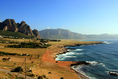 Summer coast seascape, Trapani - Sicily Royalty Free Stock Photography