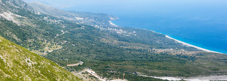 Summer coast view from Llogara pass (Albania) Royalty Free Stock Photo