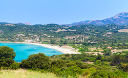 Summer coastal landscape of Corsica island Stock Photo