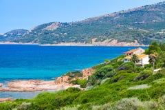 Summer coastal landscape of Corsica island Royalty Free Stock Photos
