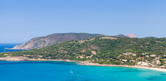 Summer coastal landscape of South Corsica Stock Images
