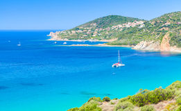 Summer coastal landscape of South Corsica Stock Images