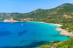 Summer coastal landscape of South Corsica Stock Photos