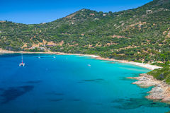 Summer coastal landscape of South Corsica Royalty Free Stock Photography