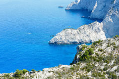 Summer coastline landscape (Zakynthos, Greece) Stock Images