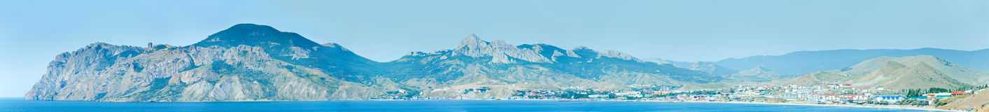 Summer coastline panorama. Royalty Free Stock Image