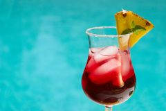 Summer cocktail stock image