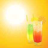 Summer cocktail  background Stock Photography