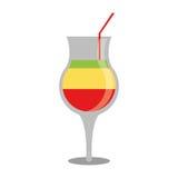 Summer cocktail glass alcohol multicolor. Vector illustration eps 10 vector illustration