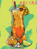 Summer cocktail Mai Tai Stock Image