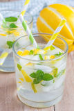 Summer cocktail from melon, mint and soda drink Royalty Free Stock Images