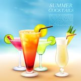 Summer Cocktail Party Background Stock Image