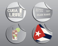 Summer cocktail party badges and labels layout Royalty Free Stock Photo