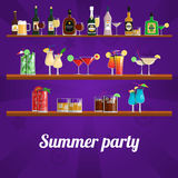 Summer Cocktail Party Concept Royalty Free Stock Photo