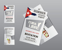 Summer cocktail party flyer invitation template Stock Photos