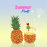 Summer cocktail party Stock Image