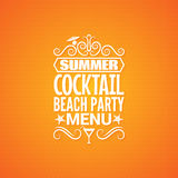 Summer cocktail party menu design background Royalty Free Stock Photos