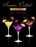Summer Cocktail Party Royalty Free Stock Photos