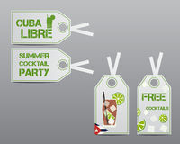 Summer cocktail party stickers and labels layout Stock Photo