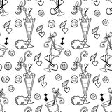 Summer cocktail pattern background Stock Photography