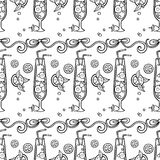 Summer cocktail pattern background Stock Photos