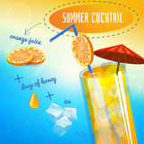 Summer Cocktail Recipe Stock Images