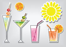 Summer cocktails Stock Photography