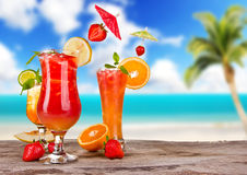 Summer cocktails Royalty Free Stock Photo